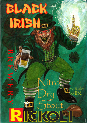 Label black irish nitro stout